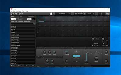 Beat making with Battery 4 drum machine