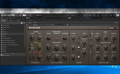 Reaktor instrument and effects builder