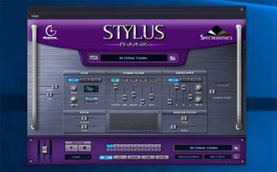 Stylus RMX presets for drums. Beat making plugin