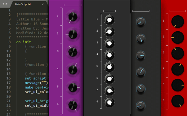 How to make a Kontakt Instrument with custom GUI - a guide to interface design