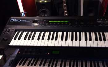Roland D50 synthesizer - famous retro synth