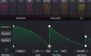 Arturia Pigments - Filter modulation with functions