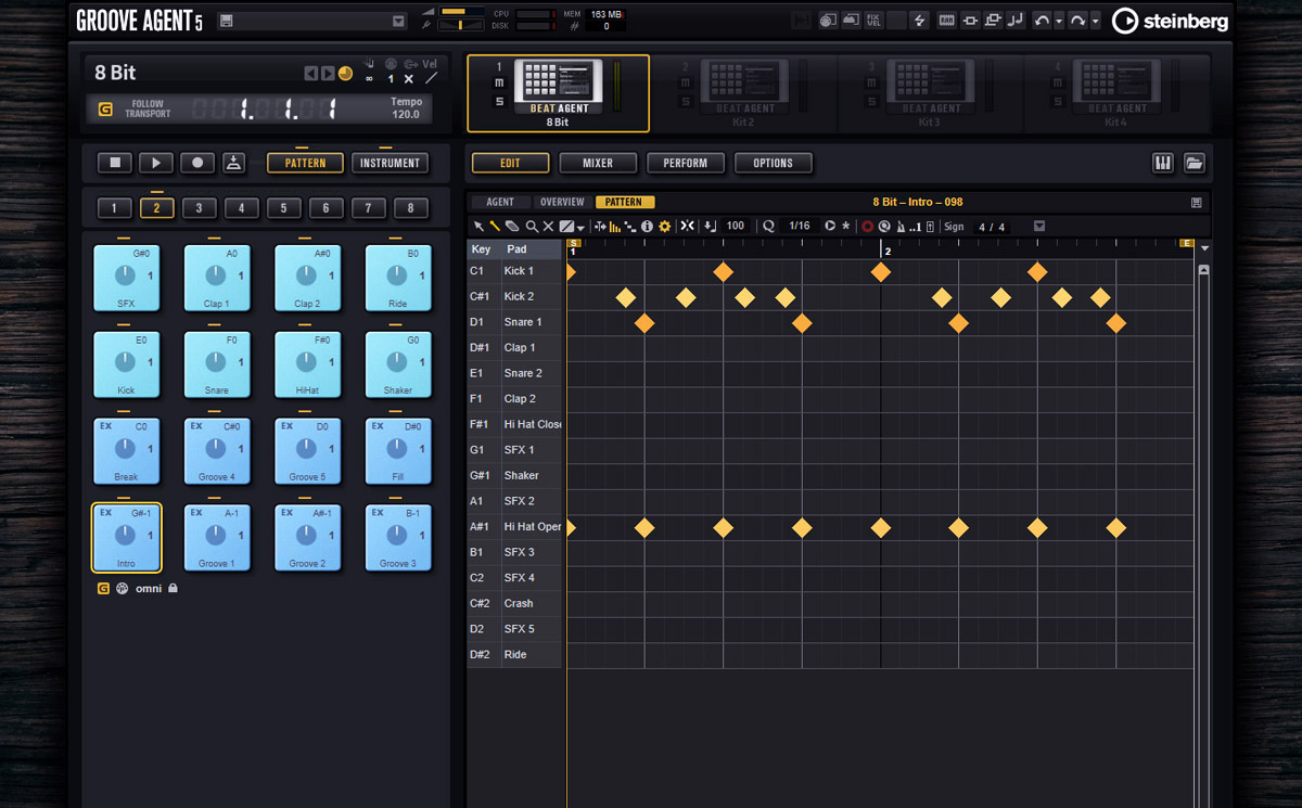 Groove Agent drum machine drum plugin for beat making and grooves