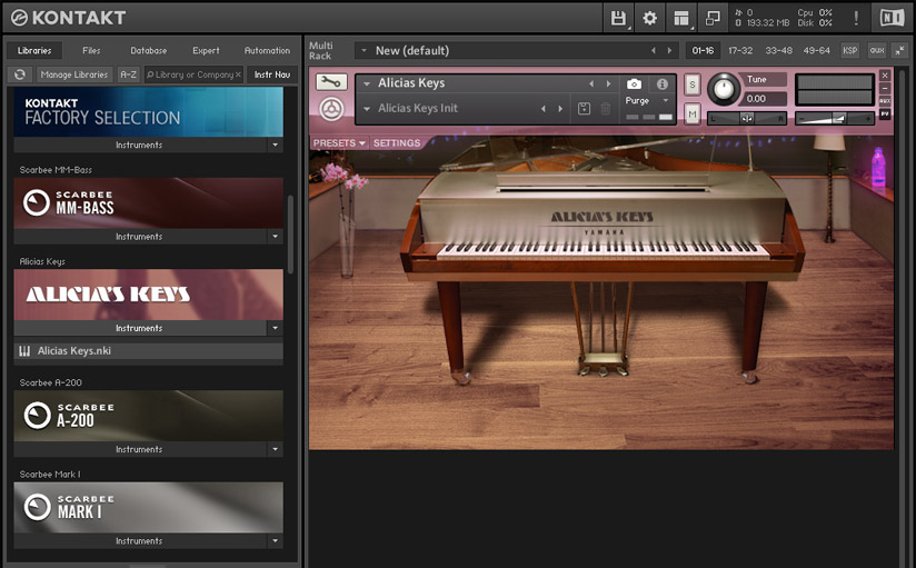 Kontakt 5 Sampler for custom instruments.