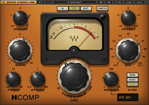 Waves Hybrid Comp is a mix between a modern and vintage compressor