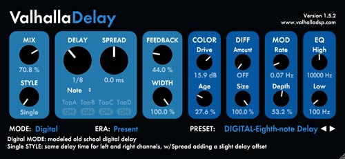 The new Valhalla Delay is a great plugin