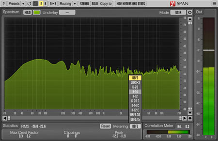 SPAN - one of the best free metering VST plugins