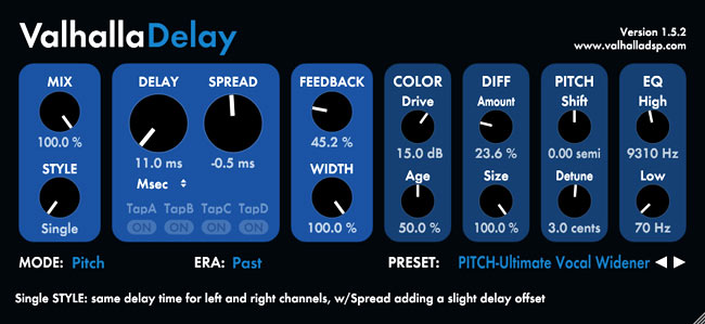 Valhalla Delay for modulation and chorus effects